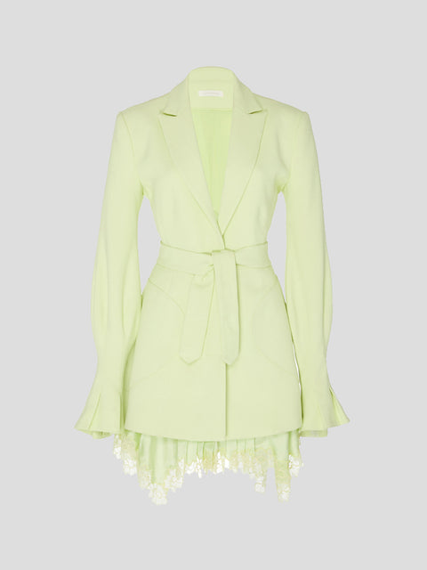 Victoria Lace-Trim Blazer Dress