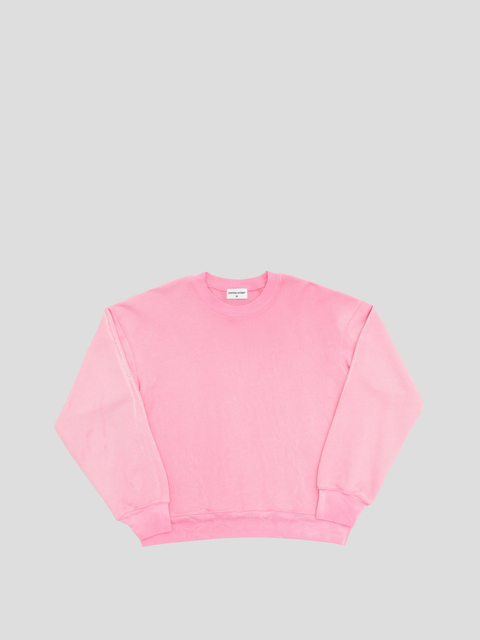 Brooklyn Hot Pink Mix Oversized Crew Sweatshirt