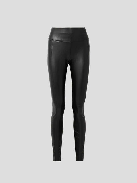Edie Black Vegan Leather Leggings