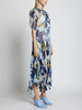 Painted Floral Drop-Waist Dress