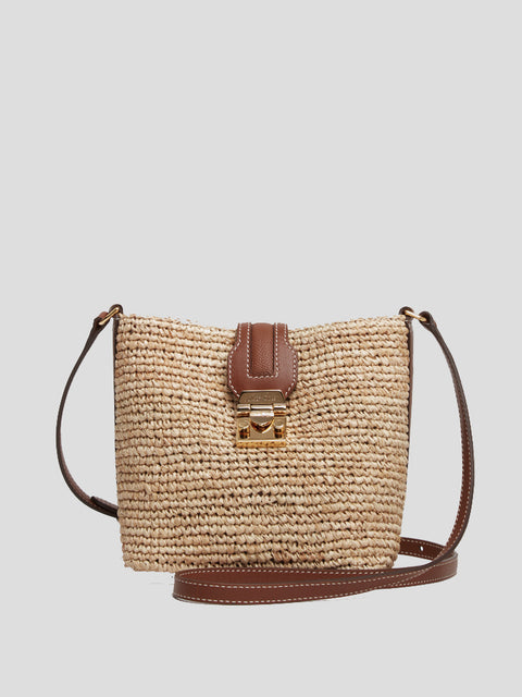 Mini Murphy Rafia Bucket Bag