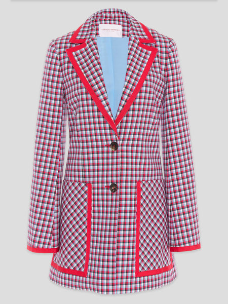 Carolina Herrera Oversized Houndstooth Blazer US10,Fivestory Pre-Loved,- Fivestory New York