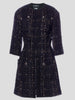 Chanel Mid-Sleeve Tweed Coat FR38,Fivestory Pre-Loved,- Fivestory New York
