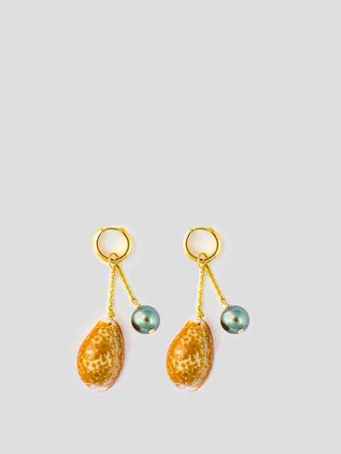 Charm 18k Yellow Gold Earrings,Haute Victoire,- Fivestory New York