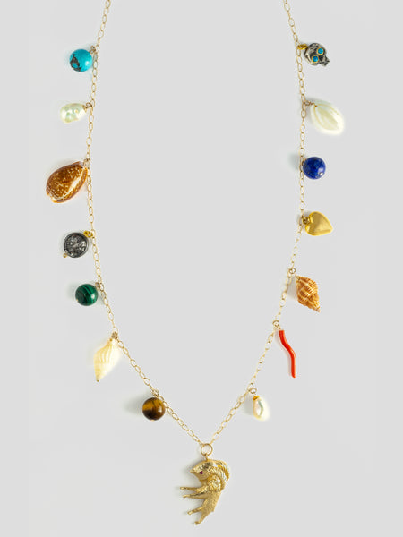 Shell Charm 14k Yellow Gold Necklace,Haute Victoire,- Fivestory New York