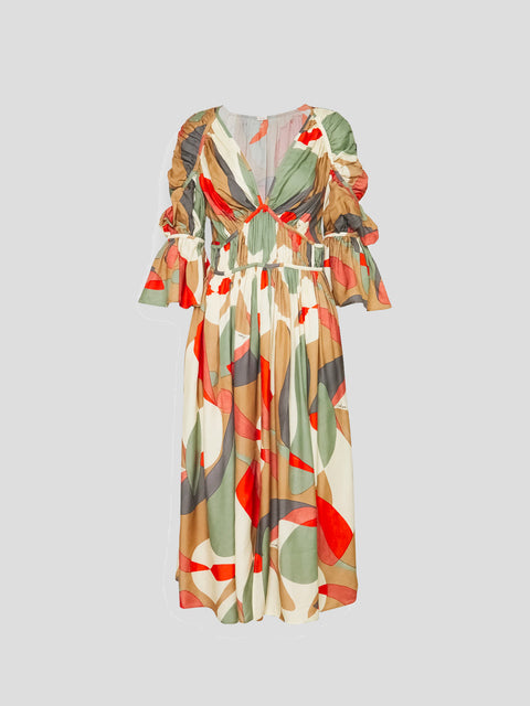 Anysia Multi Print Dress