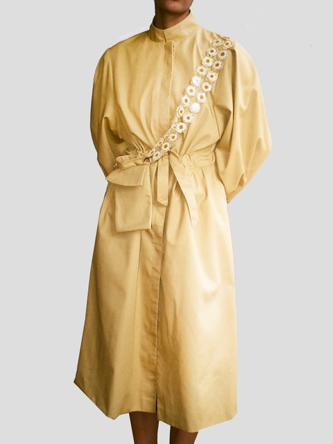 Dickinson Yellow Balloon Sleeve Trench