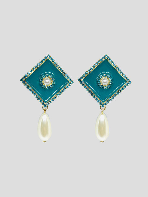 Lacquer Pearl Drop Earrings