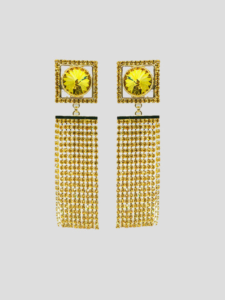 Strass Fringe Earrings