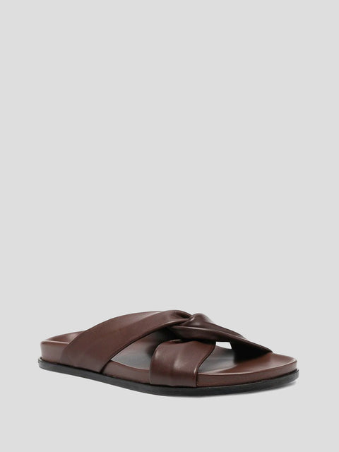 Tresse Dark Brown Flat Sandal
