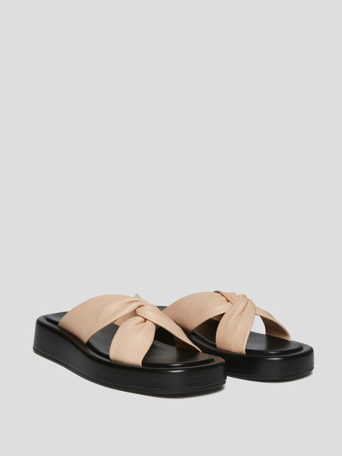 Tresse Black and Pink Platform Sandal