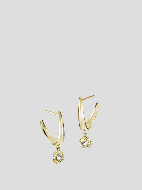 Intuition 18k Yellow Gold and Diamond Hoops,Ana Katarina,- Fivestory New York