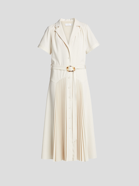 Sama Ivory Recycled Crepe Midi Dress