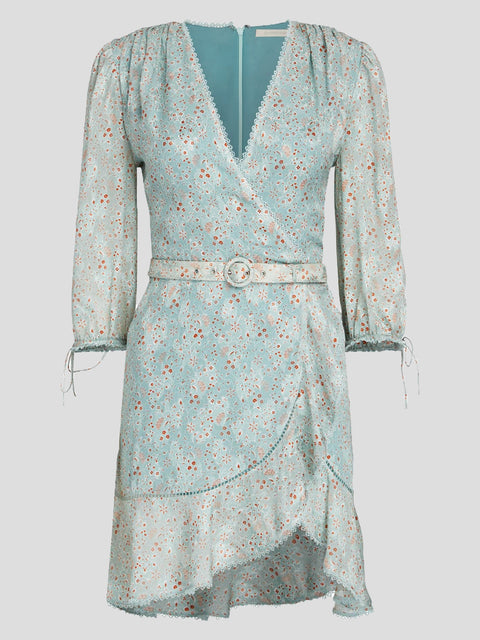 Fiorella Medallion Jacquard Wrap Dress,Jonathan Simkhai,- Fivestory New York