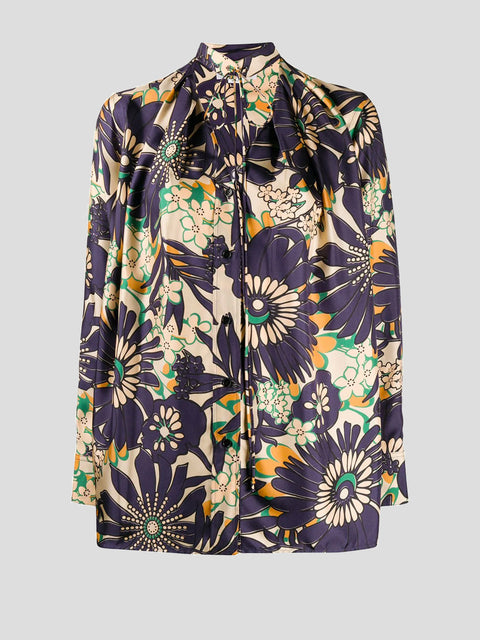 Floral Silk Blouse