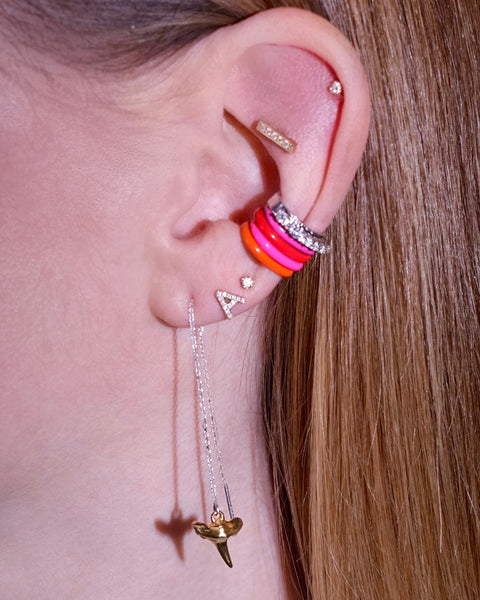 Pink Unicorn Rainbow Enamel Ear Cuff