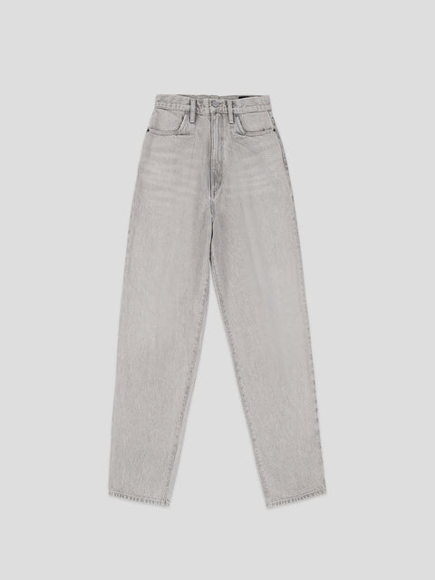 The Grey Pleat Curve Jean