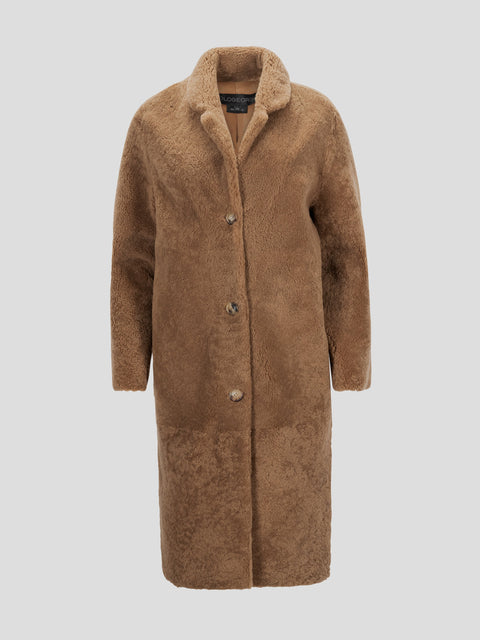 Shearling Notch Collar Coat