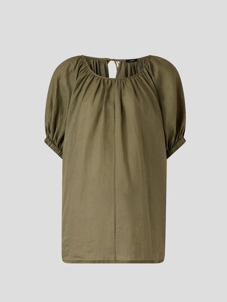 Ramie Voile Green Baidy Blouse