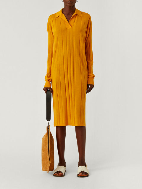 Oversized Yellow Polo Dress