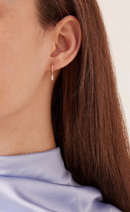 Charmed Micro Gabby Hoop Earrings