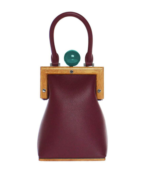 Le Mini in Bordeaux Leather