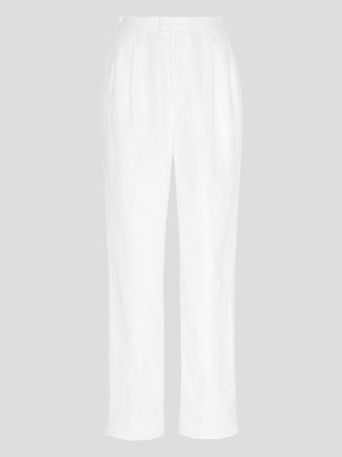 Bello Linen Tapered Pants-White,MARKARIAN,- Fivestory New York