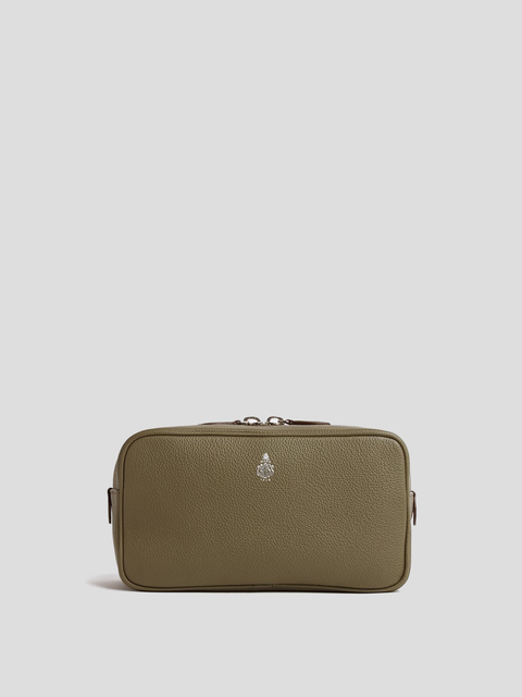 Tumbled Grain Khaki Washbag
