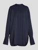 Oversized Silk-Blend Crepe Shirt