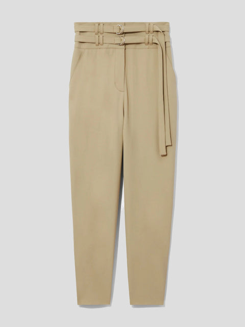Wool Belted Tapered Pant