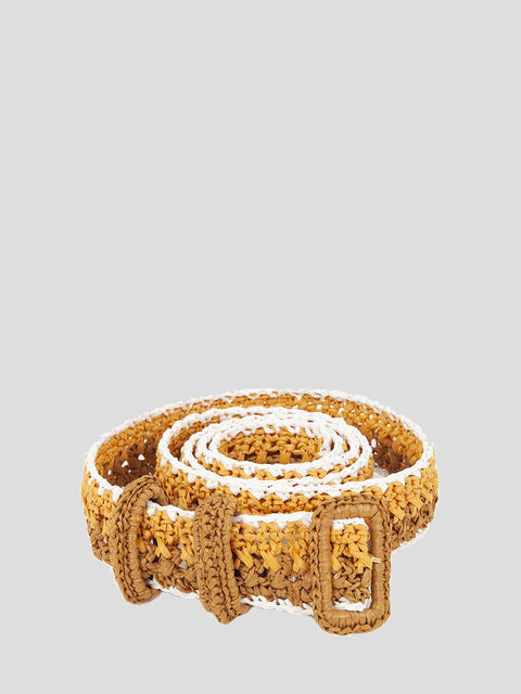 Brown Raffia Belt