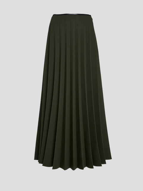 Peter Do Pleated Crepe Skirt