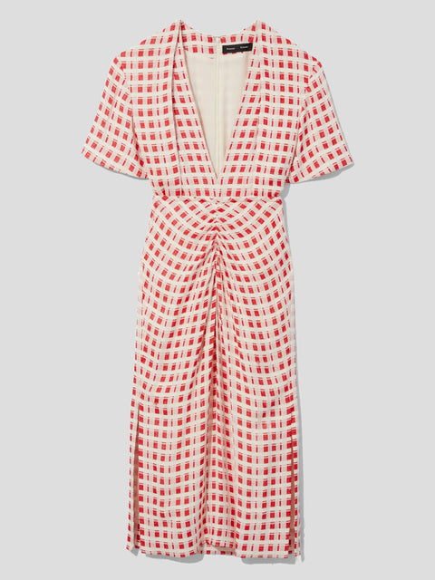 Jacquard Plaid Midi Dress,Proenza Schouler,- Fivestory New York