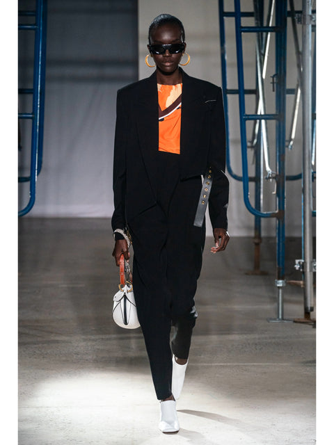 Draped-Front Trousers with Topstitching,Proenza Schouler,- Fivestory New York
