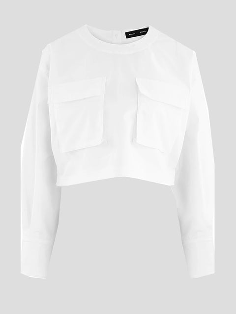 Longsleeve Cotton Crop Top