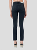 Comfort Stretch Faded Black High Rise Ankle Crop Jean