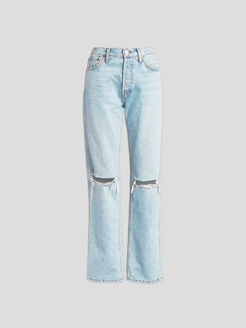 Rigid Bleach Destroy High Rise Ripped Jean