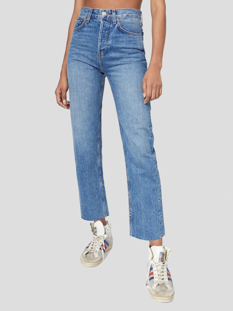 Rigid Medium Vain High Rise Fitted Jean