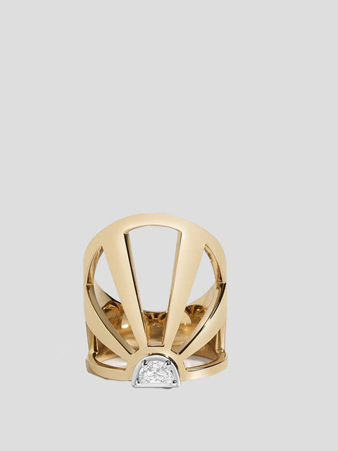 Summer Solstice 14k Yellow Gold and Diamond Ring