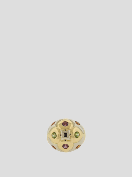Bvlgari Gold Multi Gemstone Dome Ring
