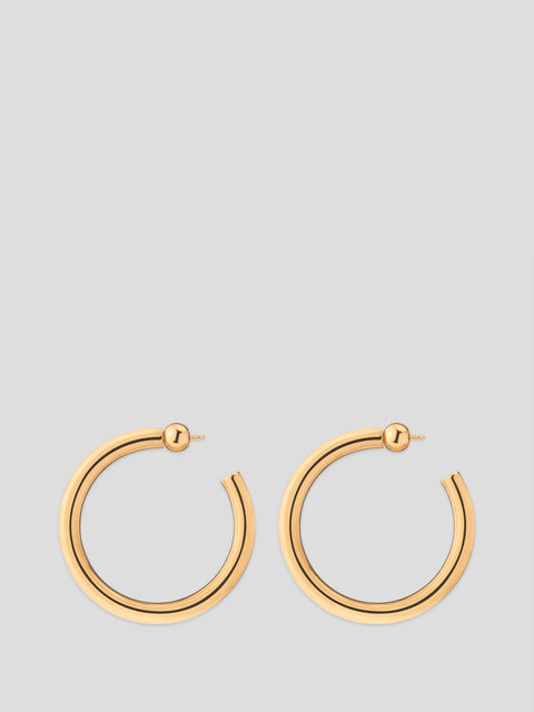 Gold Medium Everyday Hoop Earrings