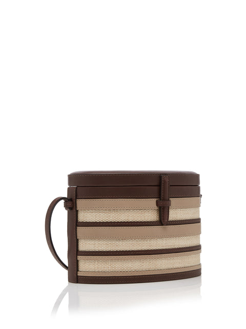 Striped Round Trunk Bag