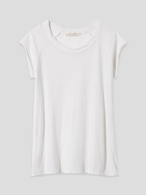 Short Sleeve White Tee,Nili Lotan,- Fivestory New York