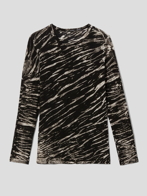 Tiger Print Long Sleeve T-Shirt,Proenza Schouler,- Fivestory New York