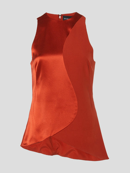 Sleeveless Satin Silk Top