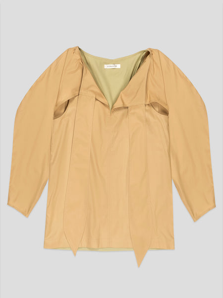 Eleanor Khaki Top