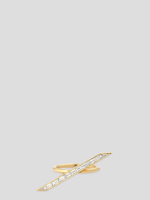 18k Yellow Gold and Diamond Line Ring,Emily P Wheeler,- Fivestory New York