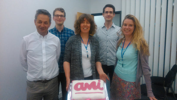 Launching Ami with cake