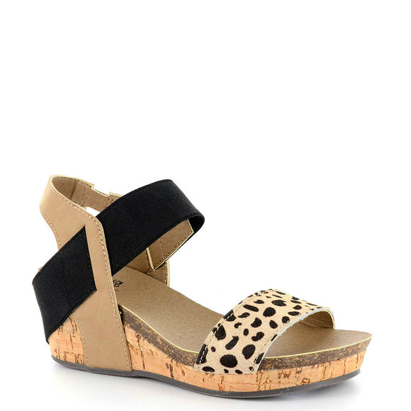 Corkys Girl's Zap Platform Wedge - Cheetah 01-2450