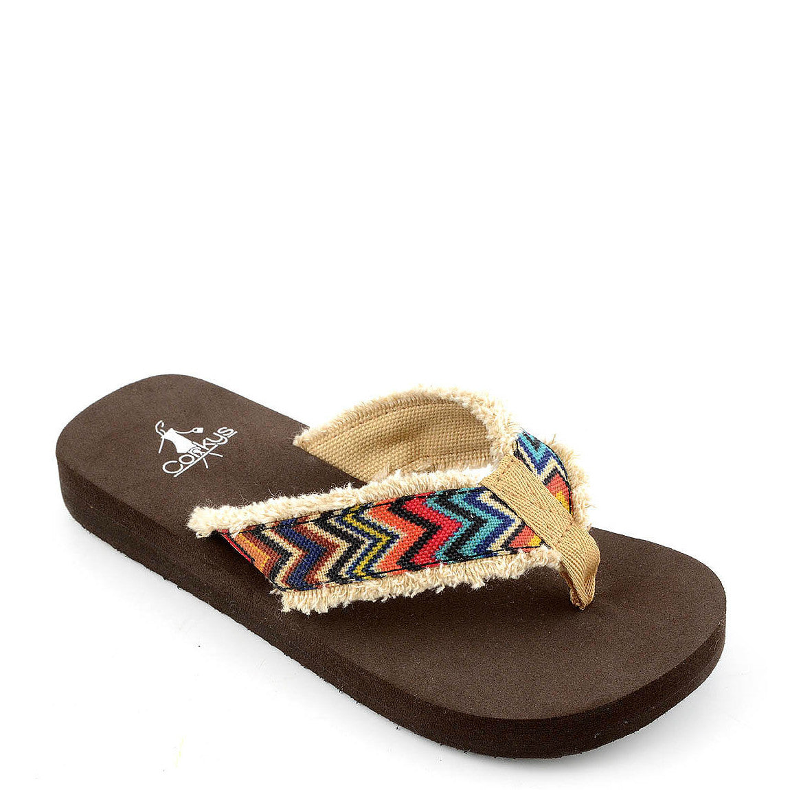 Corkys Kid's Star Flip Flops - Bright Multi 01-2530